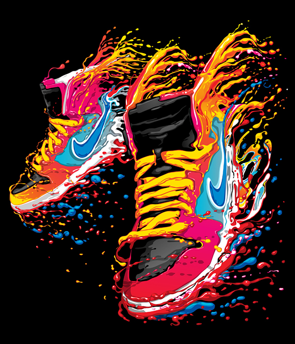 Cool Graphic Print Shoe Design