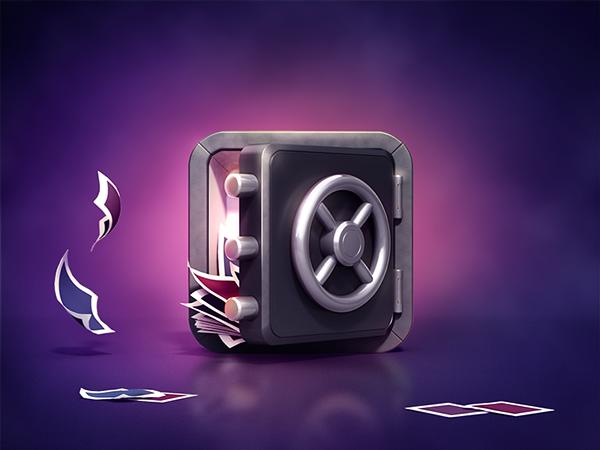 App Icon Design - 3D Safe or Vault by Creative Dash on Behance