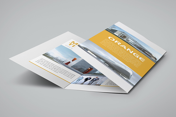 modern tri fold flyer on behance