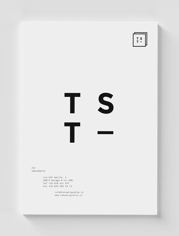 visual identity brand logo tst SILK screen print