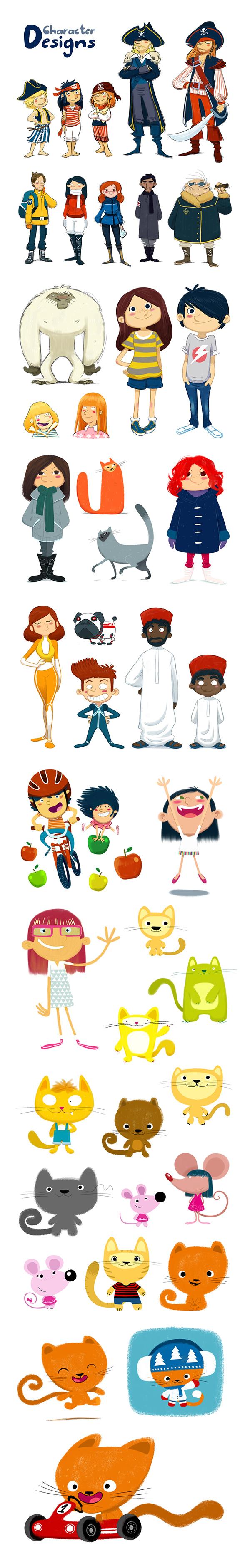 Character Design For Children S Books : Character designs on behance