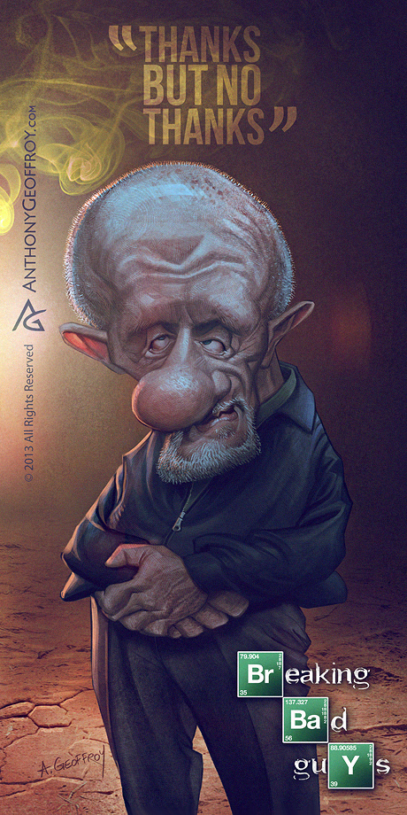 Breaking Bad Caricatures by Anthony Geoffroy