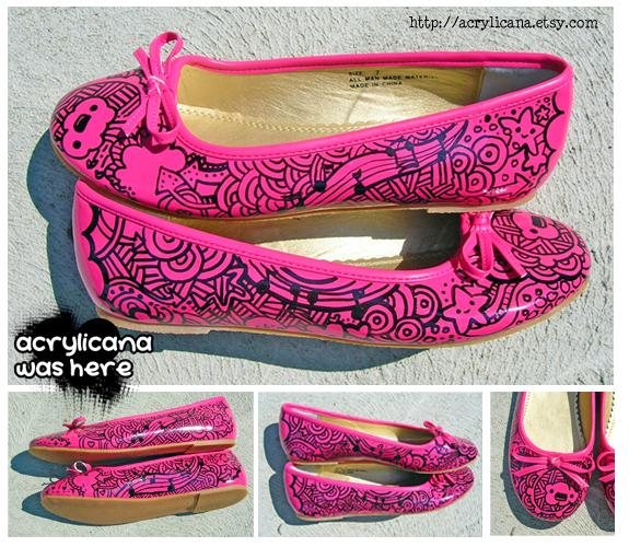Custom Shoes : Ballet Flats on Behance