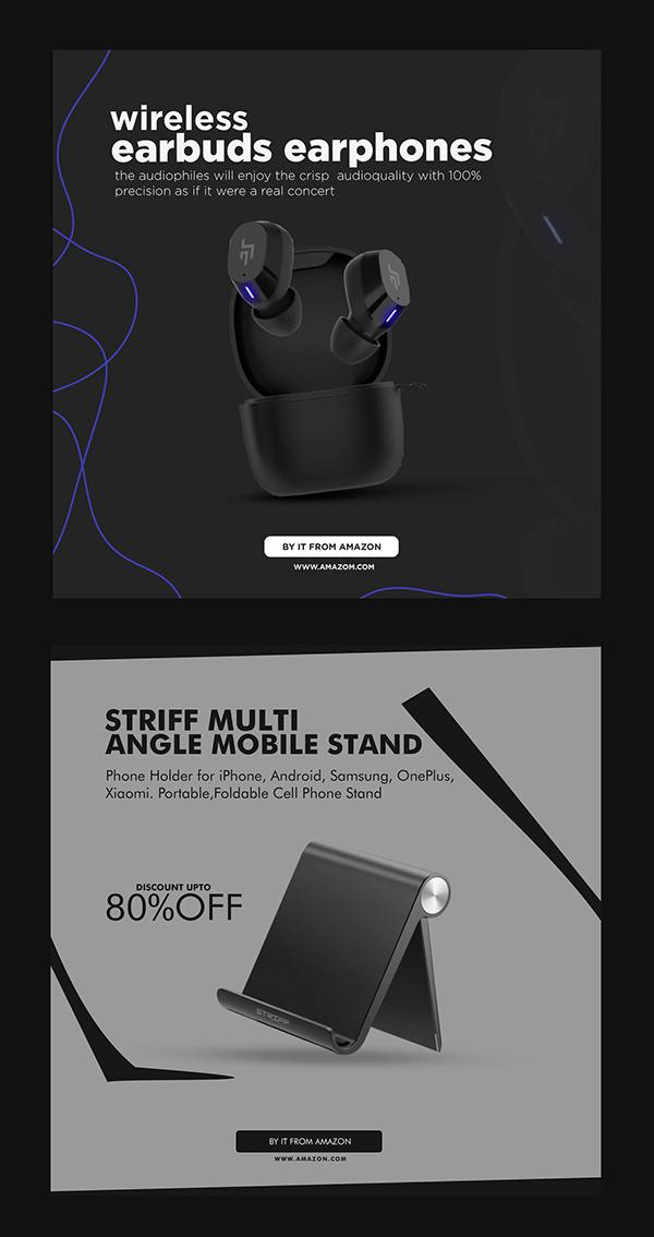 Mobile accessories Instagram Banner Design