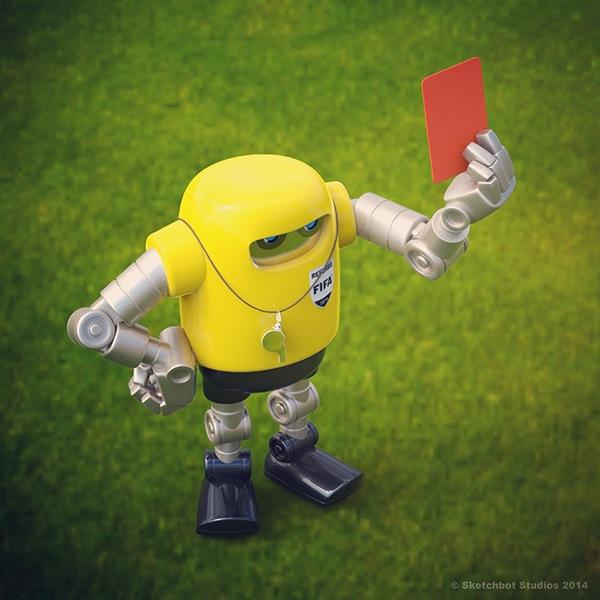 soccer robot Futbol Maya modo keyshot Sketchbot