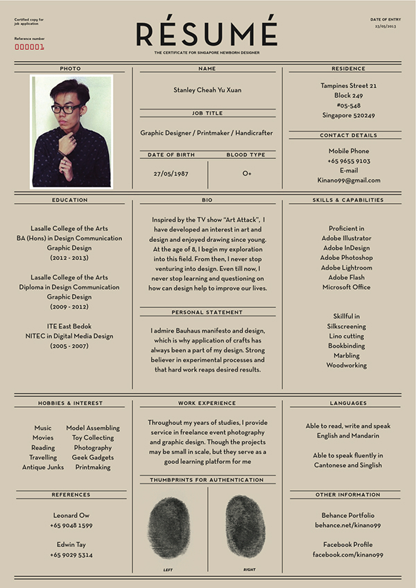 Creative Resume Design Examples