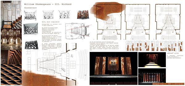 set design Richard III shakespeare