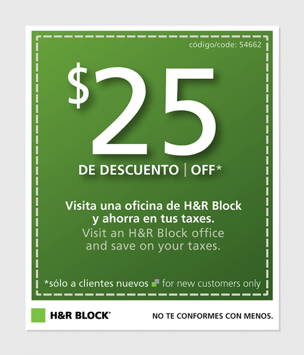 Hr block coupons 2018