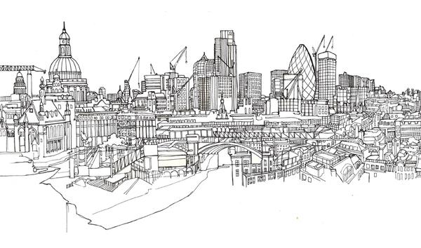 Drawing Lines In Jcanvas : London skyline locker graphics on behance
