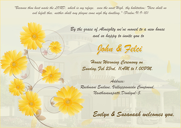 House Warming Ceremony Invitation On Behance