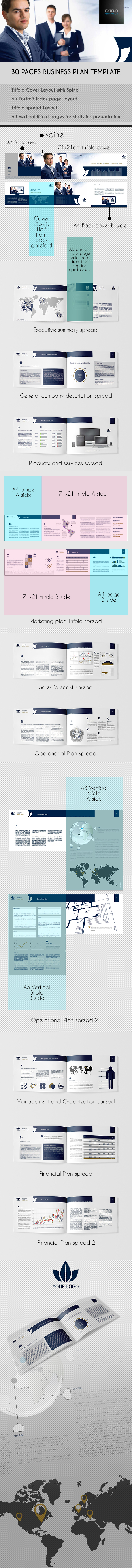 Pages Business Plan Template On Behance - Pages business plan template