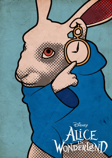 Alice in wonderland pop art poster on behance Alice and wonderland art projects