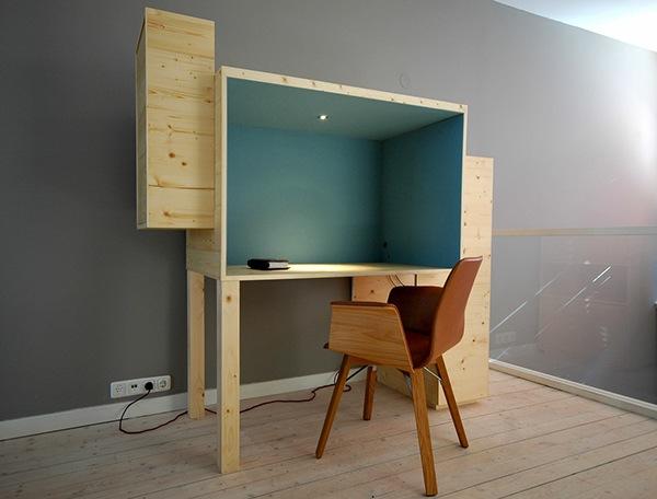 Werkplek voor in woonkamer. on Behance