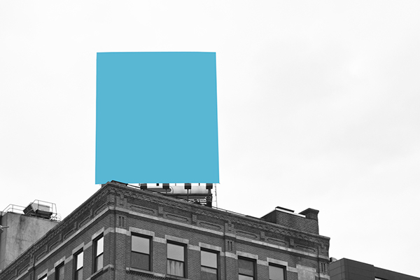 New York nyc Manhattan ad color black and white geometric minimal pantone city contemporary capitalism society Street