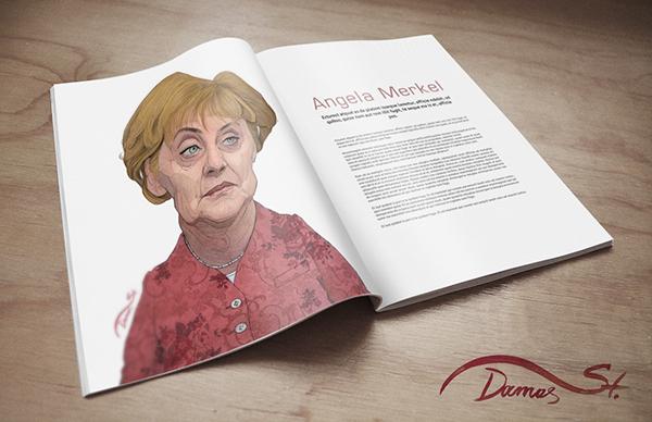 editorial sketch magazine caricature   funny draw portrait face puplication