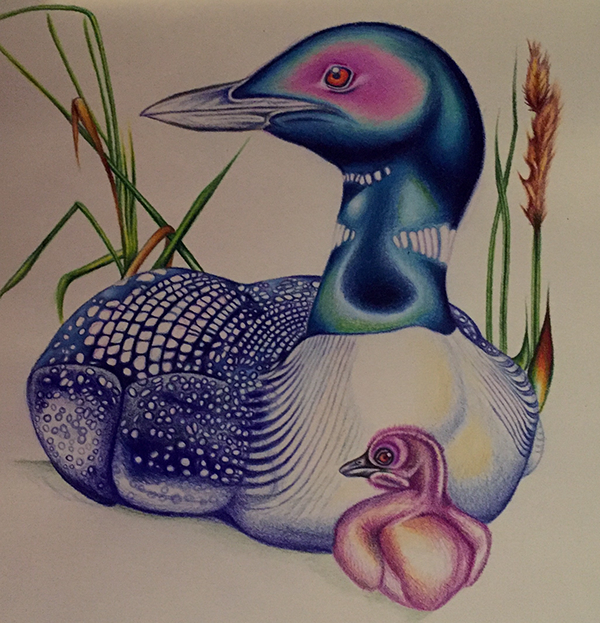 """The Blue Loon"" in progress update by Taryn Libby"