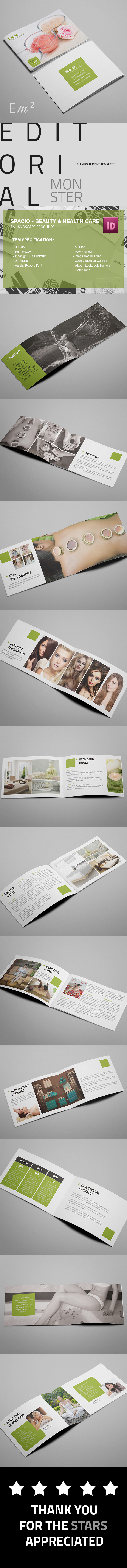 a5 Booklet brochure catalog corporate fitness flyer green hair Style health care jacuzzi Landscape nail polish