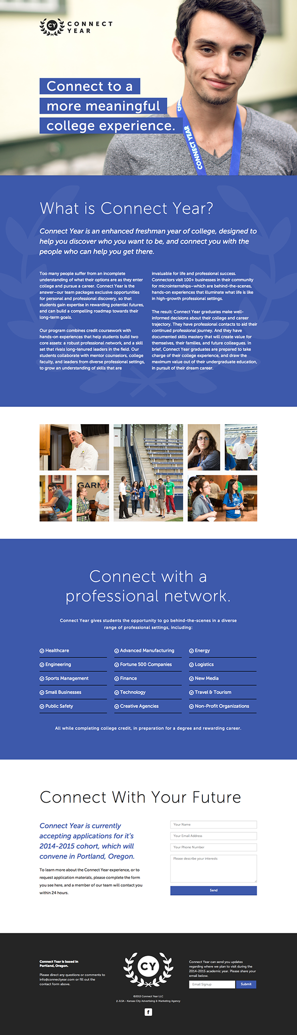 landing page Single Page Website college