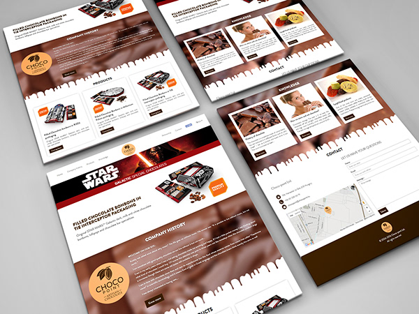 Responsive Web Design for Chocopoint Star wars chocolate specials