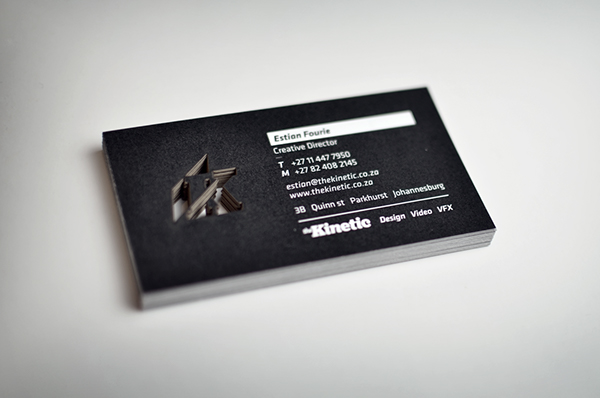 The kinetic business cards on behance reheart Choice Image