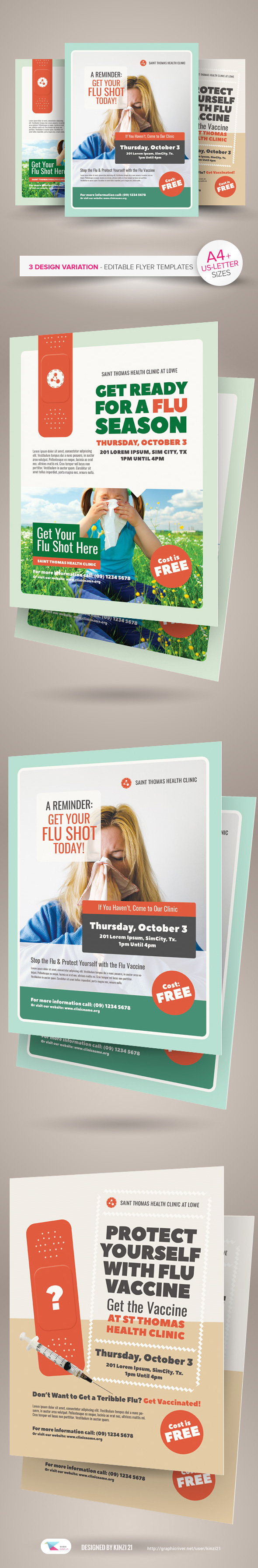 flu shot campaign flyer templates on behance flu shot campaign flyer templates are fully editable design templates created for on graphic river more info of the templates and how to get the