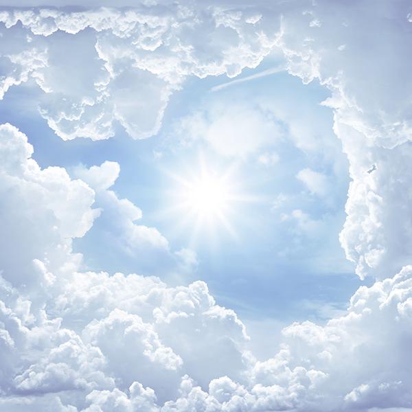 Cloud ceiling on Behance