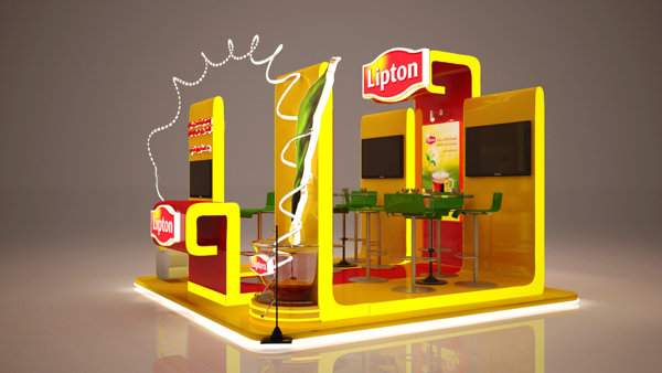 Tourism Exhibition Booth Design : Lipton booth on pantone canvas gallery