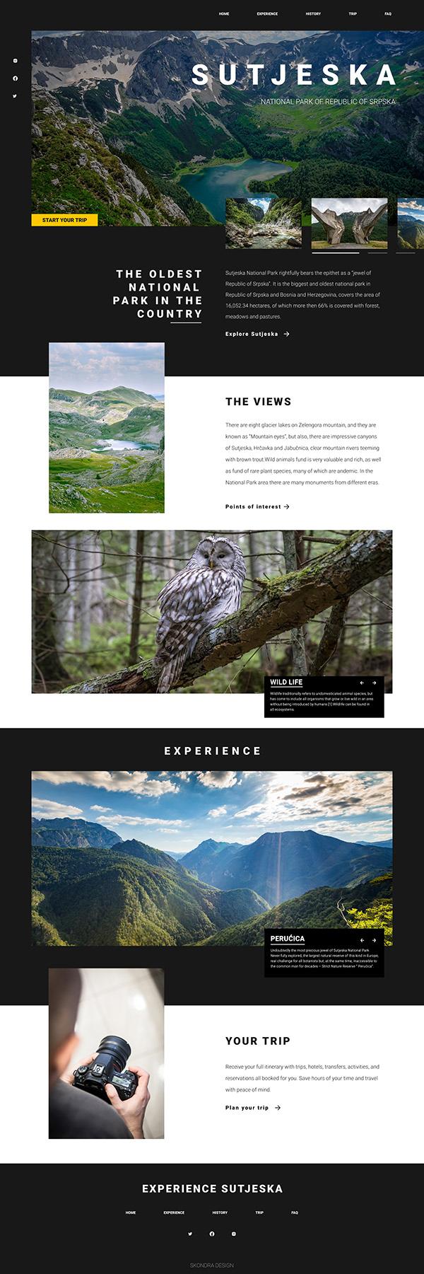 Sutjeska National Park Website