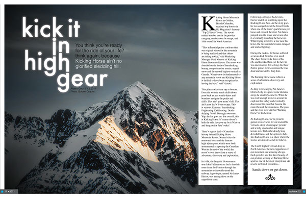 Ski Mag Spread Layout On Behance