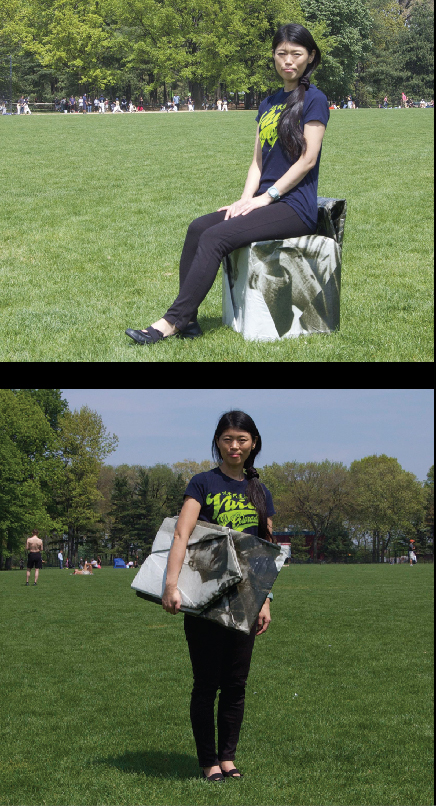 Portable Chair origami  collapsible chair picnic blanket  Recycled Material 3d design