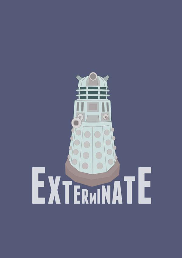 Doctor Who matt smith Dalek tardis posters