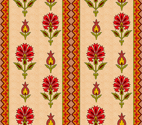 Allover Repeat border design Digital Printing Fashion Designer Floral design print & pattern textile design  Textile Designs