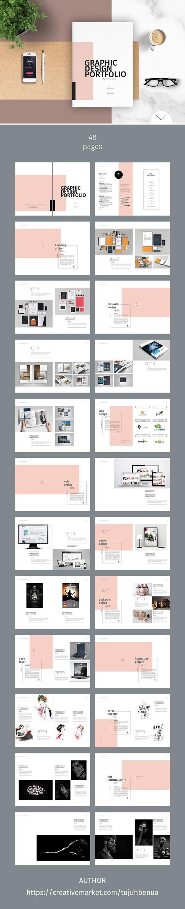 Graphic Design Portfolio Template On Behance