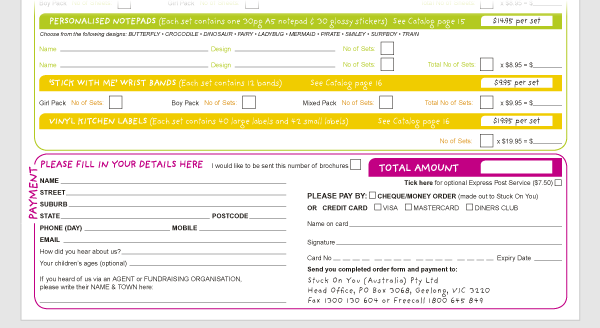 Product Order Forms Order Form Redesigned to