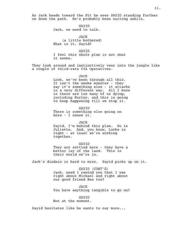 LOST (TV show) Spec Script on Behance Tv Show Script