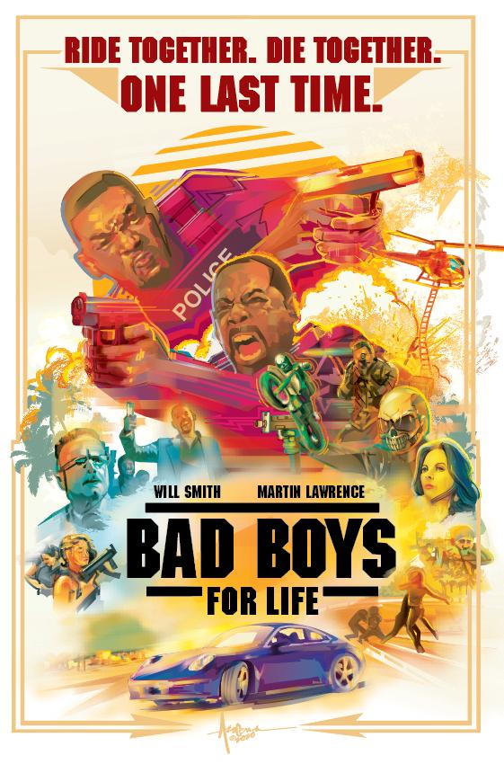 bad boys movie poster mexifunk vector vectorart cops police action movie art explosions