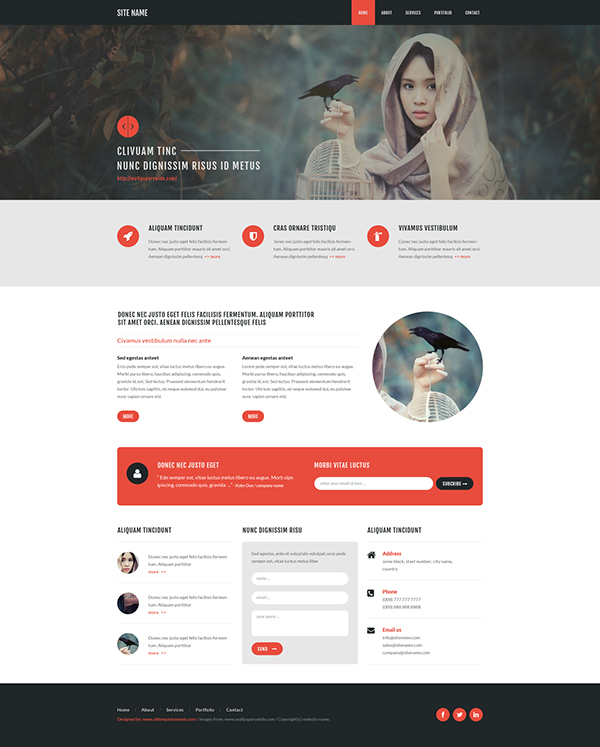 Free psd template 127, from www.alltemplateneeds.com on Behance