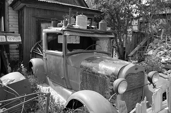Idaho City black and white junkyard parks