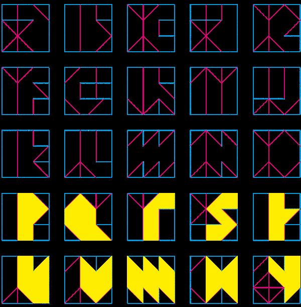 papier typo pliage decoupage carré