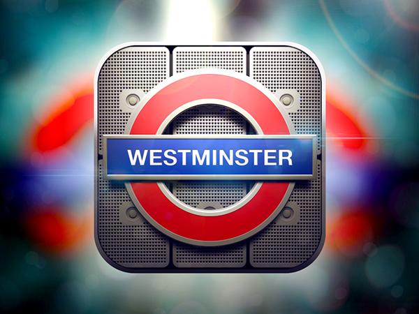 ios iphone Icon app design texture details vector artwork graphicdesign metro underground London westminster
