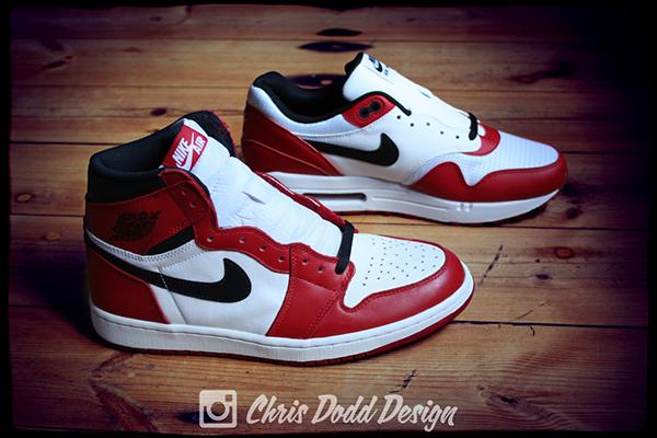 Nike Air Max 1 iD x Air Jordan 1 'Chicago' on Pantone Canvas