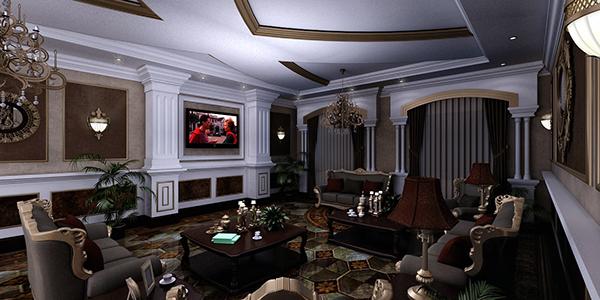 Classic Living Room In Qatar On Behance