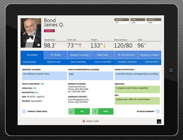 ipad health monitor