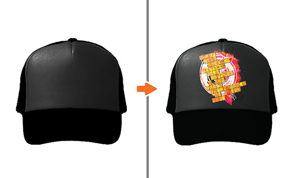 hat mockup templates pack on behance