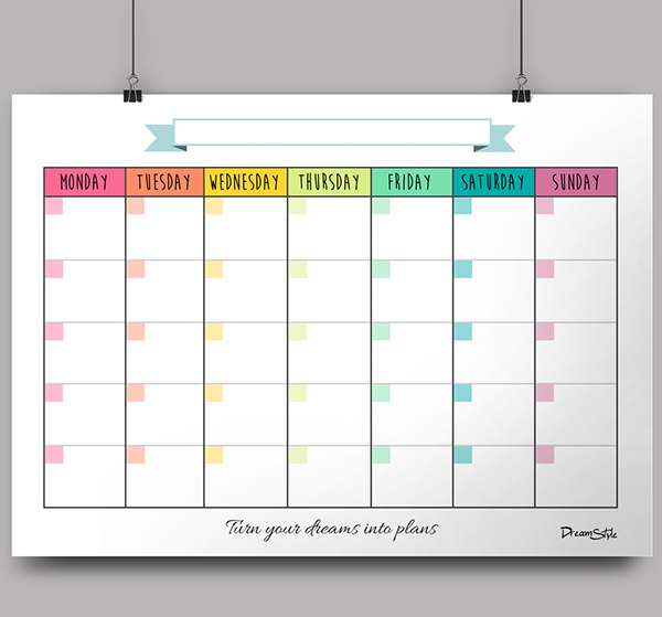 There is no dates written in the planner, so you can use it every ...