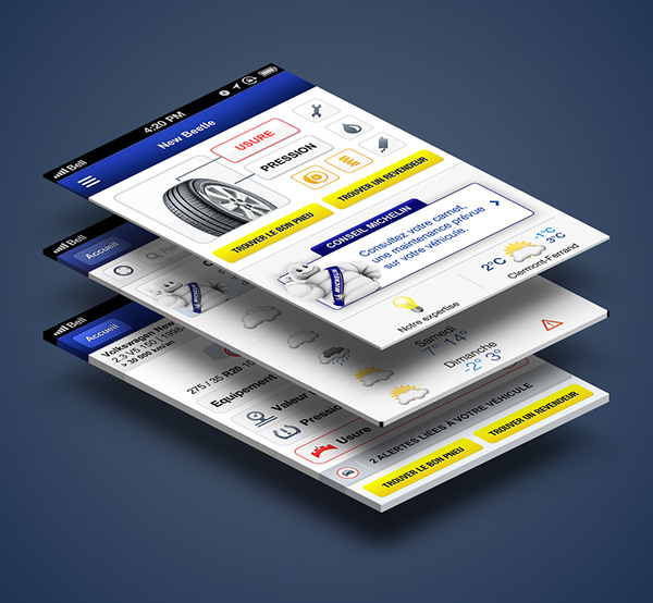 iphone android app mobile car michelin tires