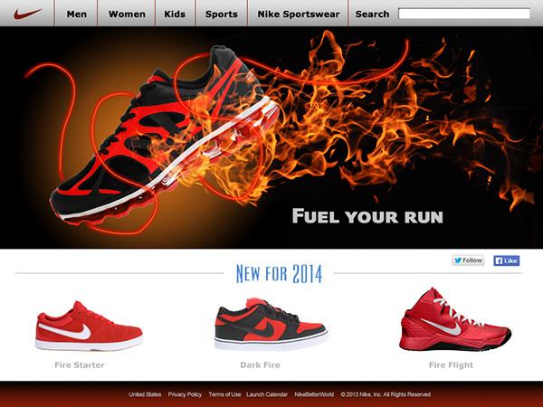 Nike Website Mockup on Behance