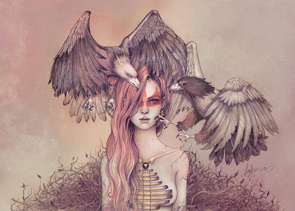 Eagle princess by Lorena Assisi
