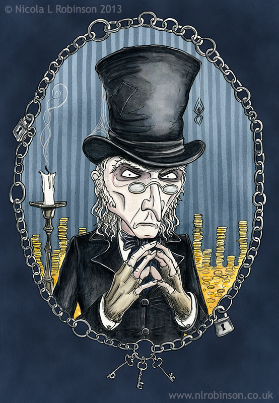 A Christmas Carol - Scrooge and Bob Cratchit on Behance