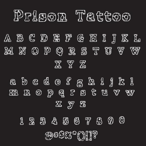 Prison Tattoo Free Font On Behance